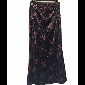 KATHIE LEE COLLECTION Purple Floral Skirt